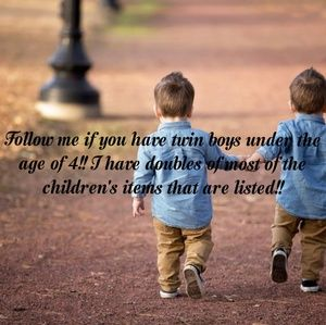 Follow me if you have twin boys!